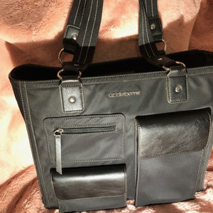 Liz Claiborne large work tote handbag, like new